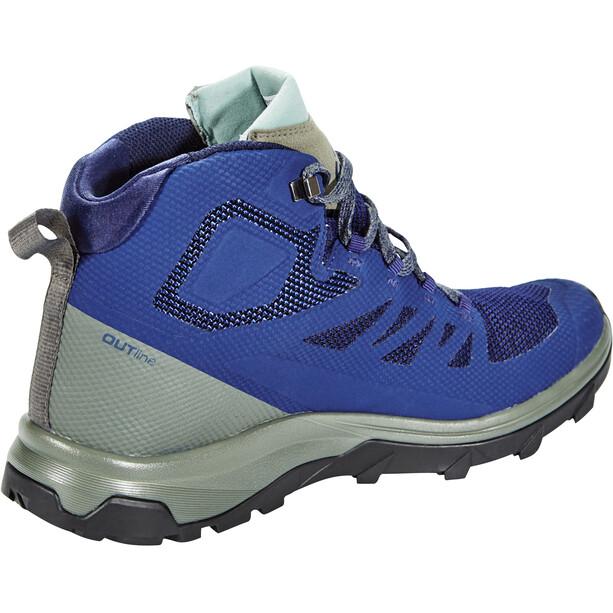 Salomon OUTline GTX Mid Shoes Herr medieval blue/castor gray/green milieu