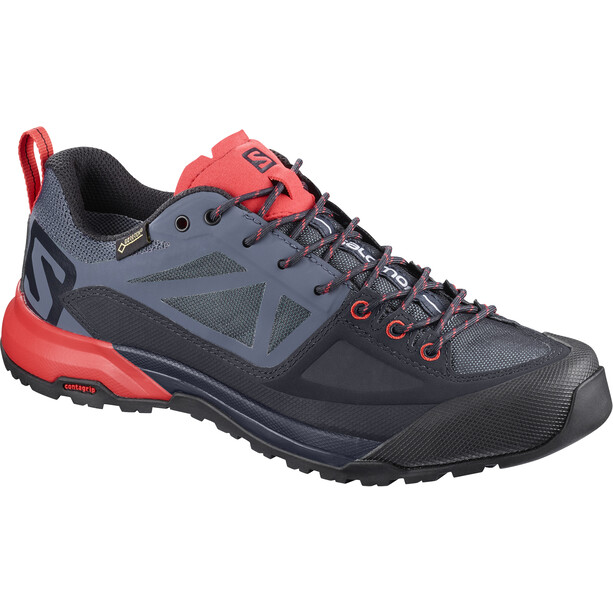 Salomon X Alp SPRY GTX Shoes Dam graphite/crown blue/poppy red