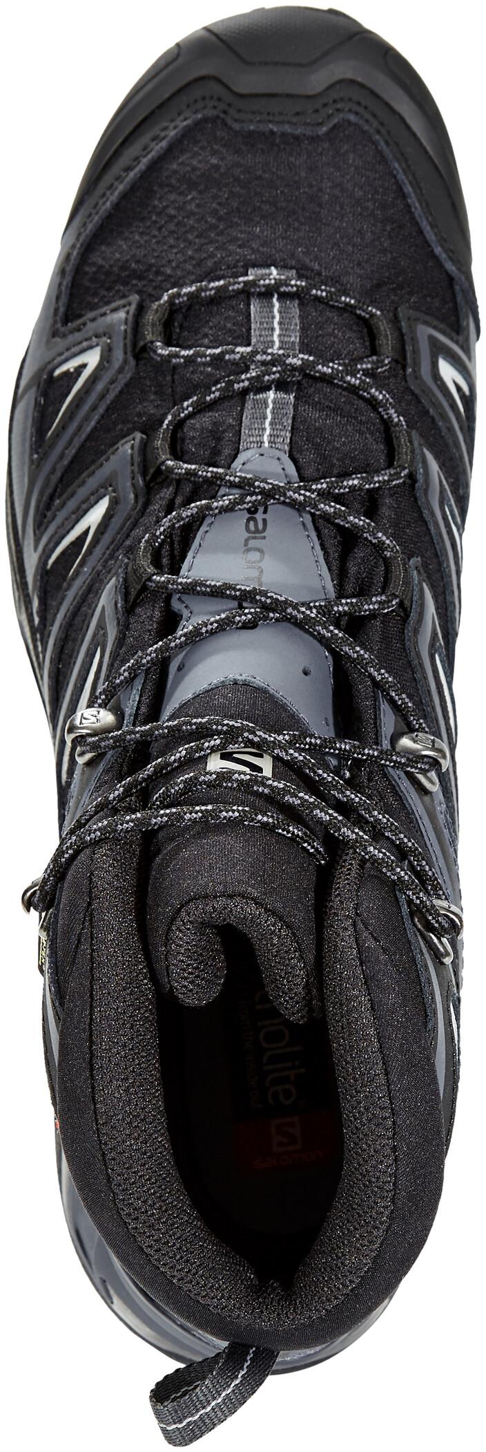 Salomon X Ultra 3 Wide Mid GTX Schuhe Herren blackindia inkmonument