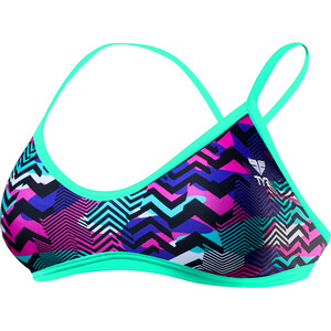 TYR Teramo Trinity Top Damen purple/turquoise purple/turquoise