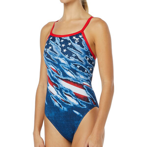 TYR Live Free Diamondfit Badeanzug Damen red/white/blue red/white/blue