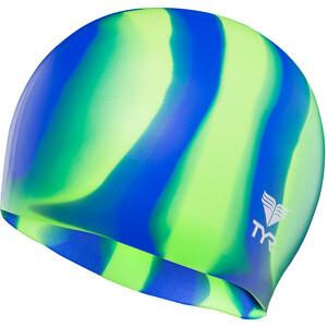 TYR Silicone Badekappe grün/blau grün/blau