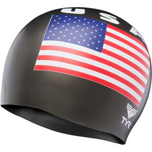 TYR USA Silikon Badekappe black black