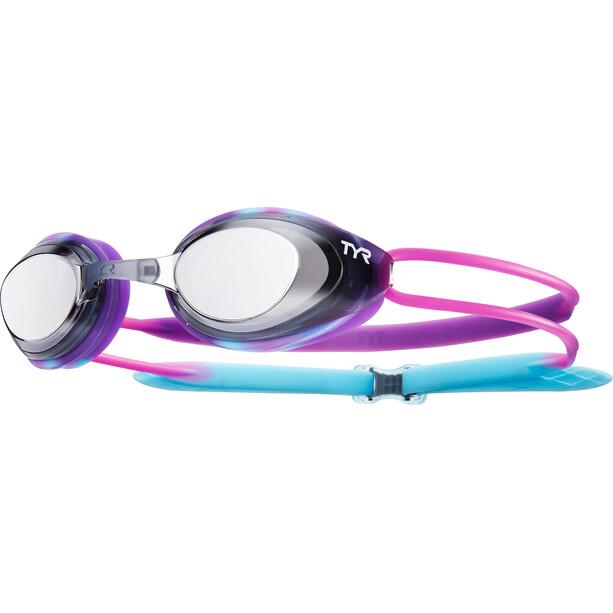 TYR Black Hawk Racing Goggles Kinder purple/black