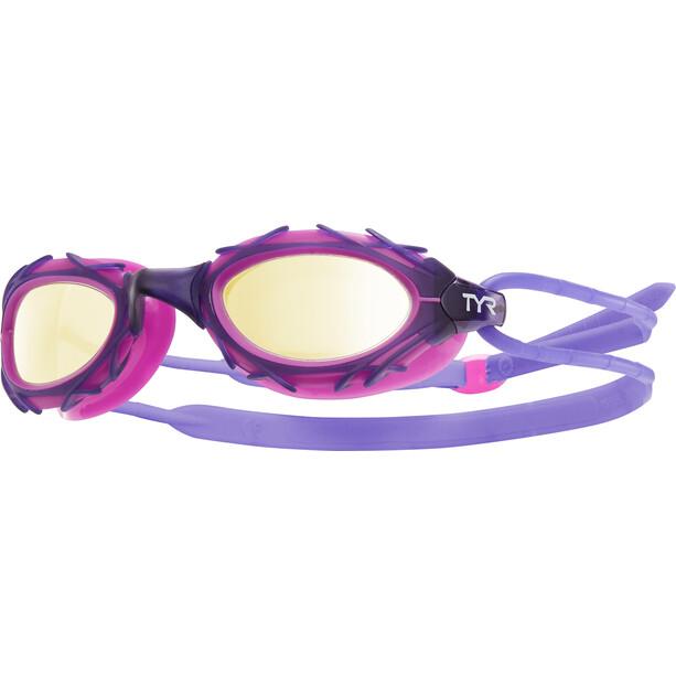 TYR Nest Pro Nano Goggles Metallisiert gold/purple