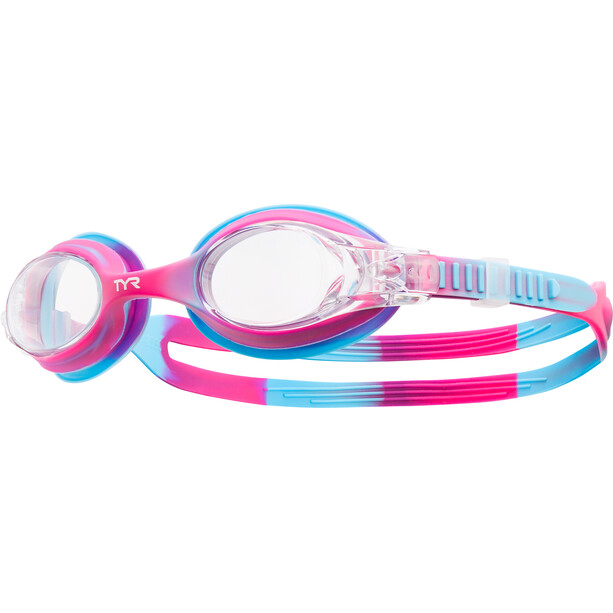 TYR Swimple Tie Dye Goggles Kinder pink/blue