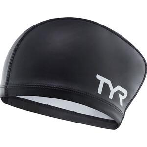 TYR Comfort Langhaar Silikon Badekappe Kinder black black