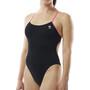 TYR Solid Cutoutfit Badeanzug Damen black/pink