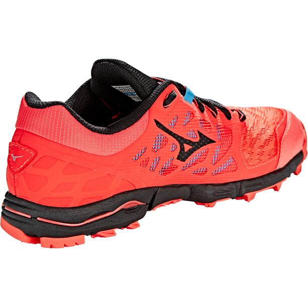 Mizuno Wave Hayate 5 Schuhe Damen hot coral/black