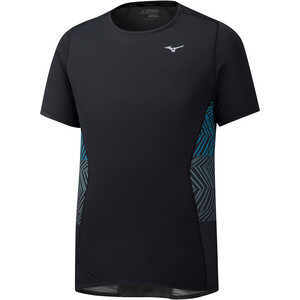 Mizuno Aero T-Shirt Herren black black