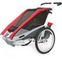 Thule Chariot Cougar 1 Fahrradanhänger + Bicycle Trailer Kit red