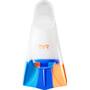 TYR Stryker Silikonflossen orange/blue/clear