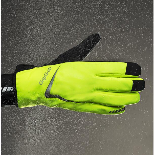 GripGrab Cloudburst Hi-Vis Wasserdichte Midseason Handschuhe fluo yellow