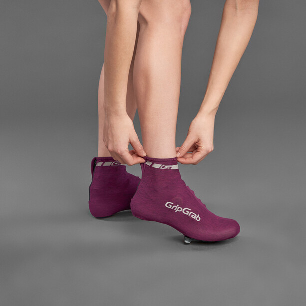 GripGrab RaceAero Shoes Covers Damen purple