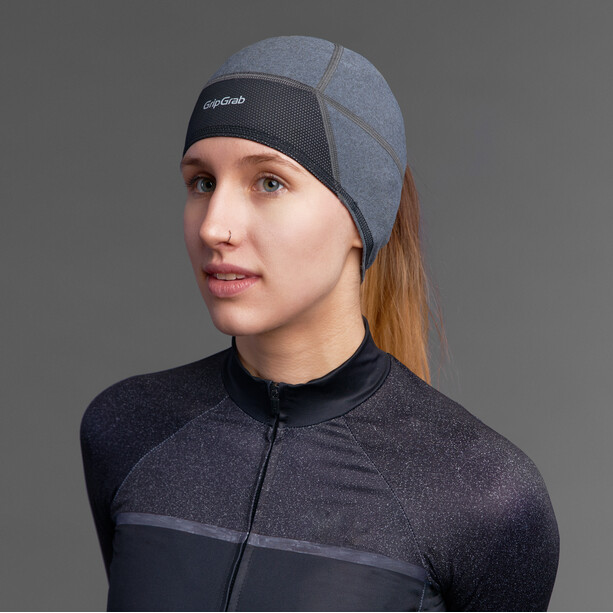 GripGrab Windproof Skull Cap Windproof Thermo Mütze Damen grey