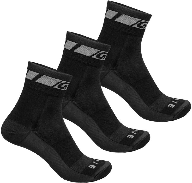GripGrab Merino Regular Cut Socks 3-Pack black S   EU 38-41 2019 Strumpor