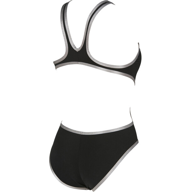 arena One Biglogo One Piece Badeanzug Damen black-silver