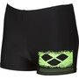 arena Scratchy Shorts Jungen black-shiny green