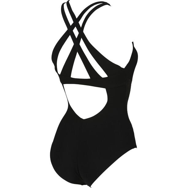 arena Maia Criss Cross Back Maillot de bain une pièce Femme, noir