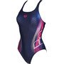 arena Briza Swim Pro L One Piece Swimsuit Dam navy-shiny pink