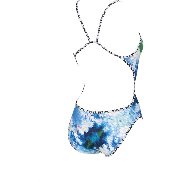 arena Upside Down Challenge Back One Piece Swimsuit Dam white-multi