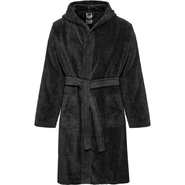 arena Core Soft Bathrobe black white