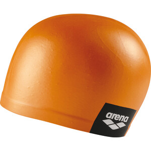 arena Logo Moulded Swimming Cap pinkish orange pinkish orange