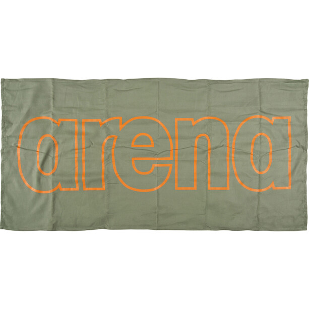 arena Gym Smart Handtuch army-tangerine
