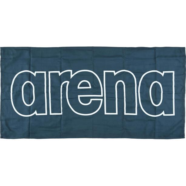 arena Gym Smart Towel navy-white