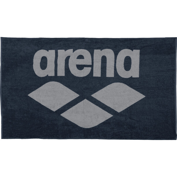 arena Pool Soft Handtuch blau/grau
