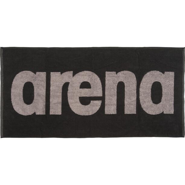 arena Gym Soft Handtuch schwarz/grau
