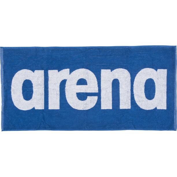 arena Gym Soft Handtuch blau/weiß