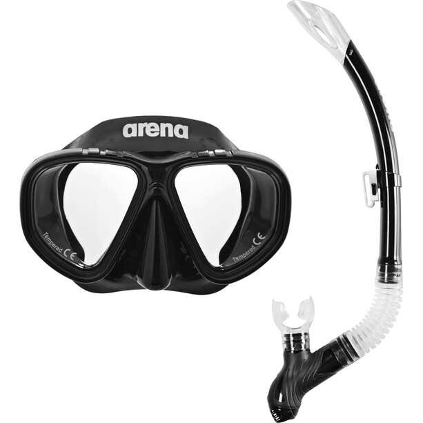 arena Premium Schnorchel Set Kinder black-clear-black