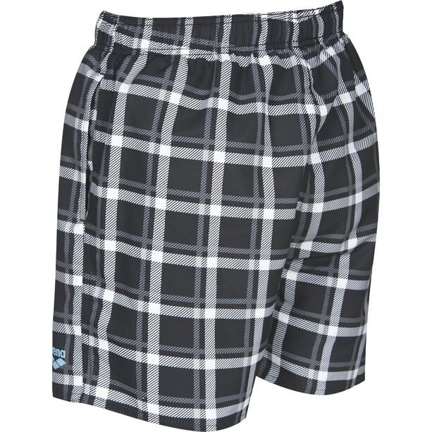 arena Devon Checks Short de bain Homme, noir/blanc