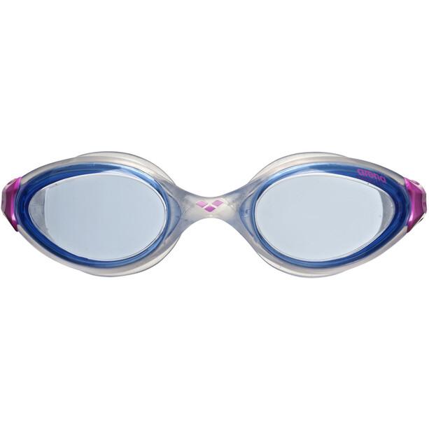 arena Fluid Goggles Damen blue-clear-fuchsia