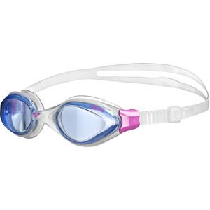 arena Fluid Goggles Damen blue-clear-fuchsia blue-clear-fuchsia