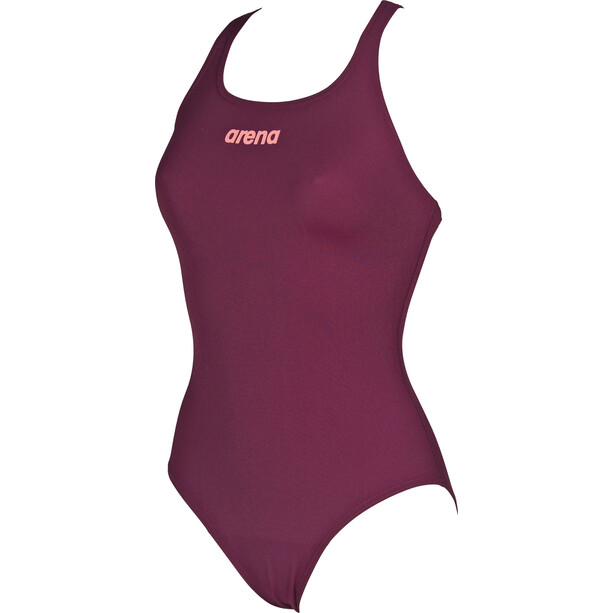 arena Solid Swim Pro One Piece Badeanzug Damen red wine-shiny pink