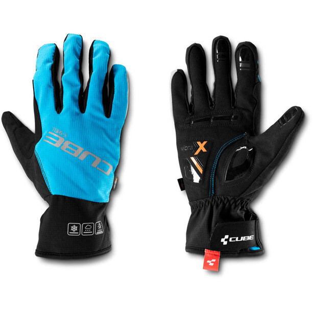 Cube Natural Fit X-Shell Langfinger Handschuhe blue'n'black