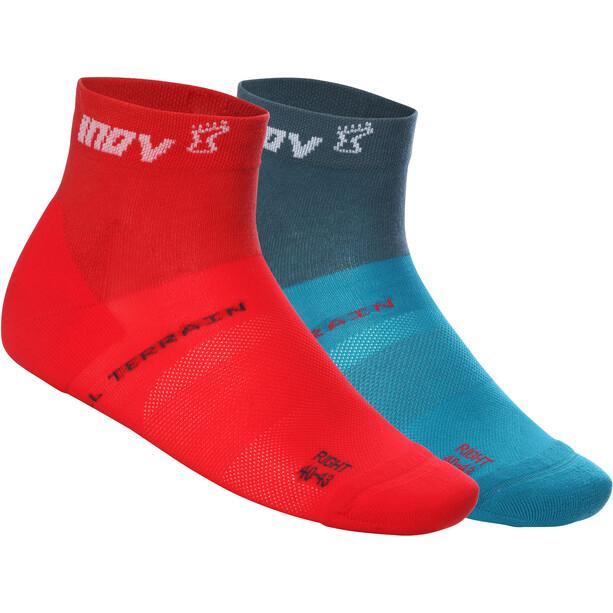 inov-8 All Terrain Mid-Cut Socken Herren green/red