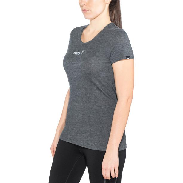 inov-8 Tri Blend Obsessed Kurzarm T-Shirt Damen schwarz