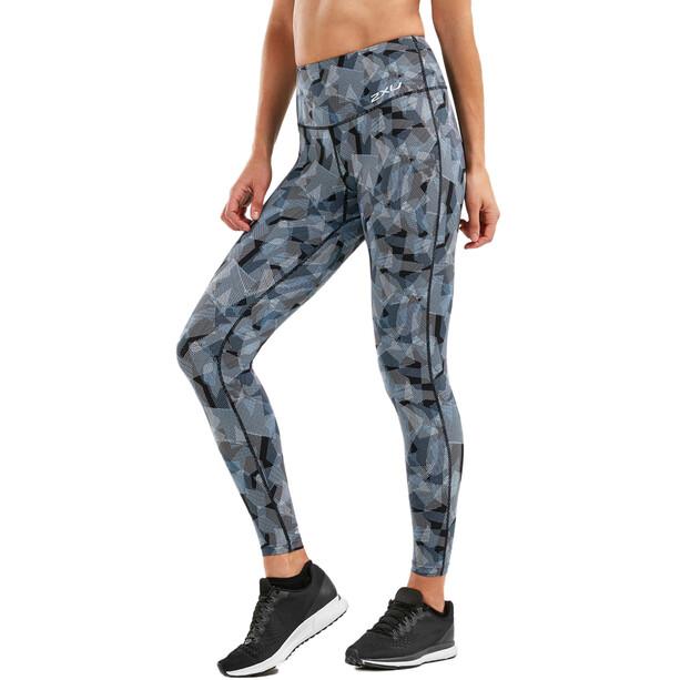 2XU Print Fitness Hi-Rise Compression Tights Dam arty camo black/silver