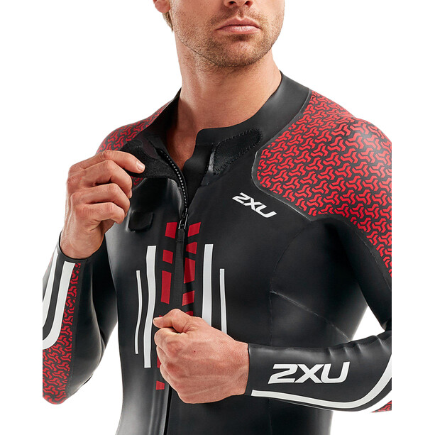 2XU SR:Pro-Swim Run Pro Wetsuit Herr Black/Flame Scarlet