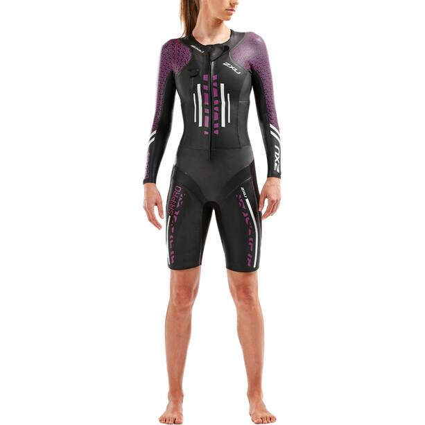 2XU SR:Pro-Swim Run Pro Wetsuit Dam Black/Flame scarlet