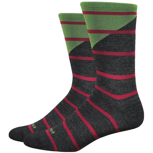 """DeFeet Mondo Wool 7"""" Socken tieon (charcoal/green)"""