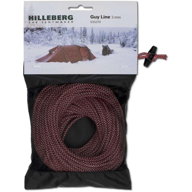 Hilleberg Reflective Guy Line Ø3mm 25m red/white