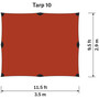 Hilleberg Tarp 10 XP red