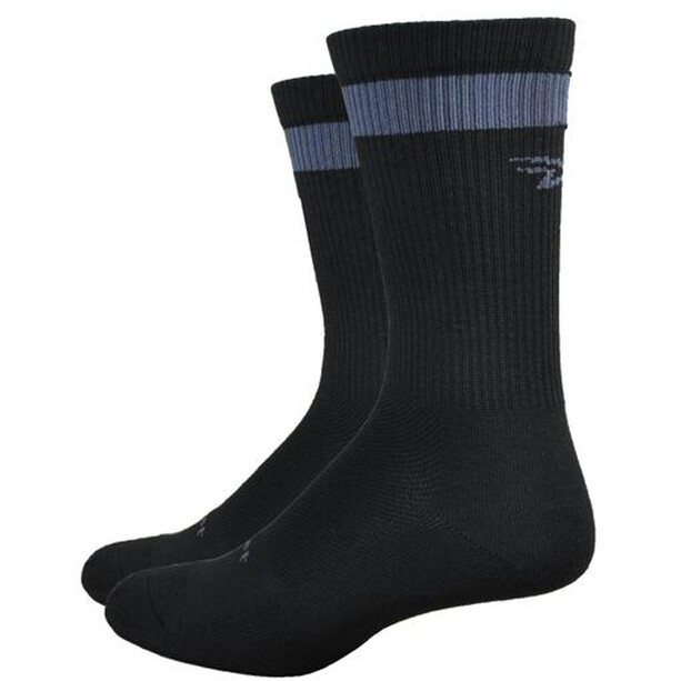 "DeFeet Levitator Trail 6"" Socken dirtbagger (black w/graphite stripe)"