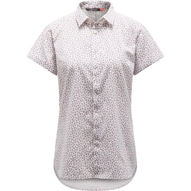 Haglöfs Idun SS Shirt Dam acai berry flower