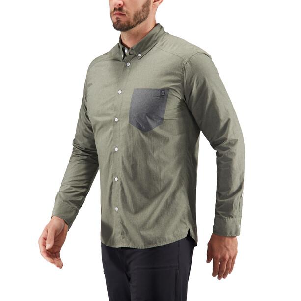 Haglöfs Vejan LS Shirt Herr sage green