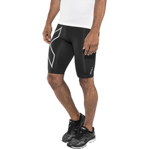2XU Run Compression Shorts with Back Storage Men, black/silver reflective black/silver reflective